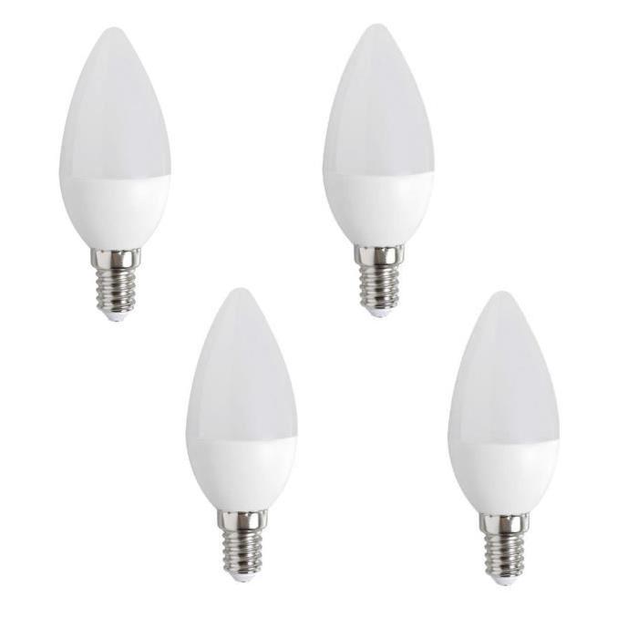 EXPERT LINE Lot de 4 ampoules LED E14 réflecteur 3 W équivalent a 25 W blanc chaud